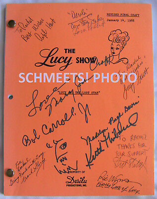 The Lucy Show Lucille Ball Joan Crawford Script Signed By Cast/crew +More I Love