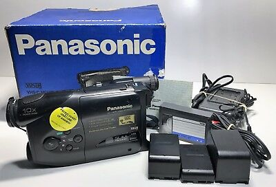 Panasonic Nv-R100 Vhs-C Movie Camera Camcorder | Box, Tapes, Batteries And More!