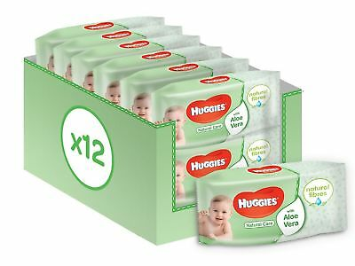 Huggies Natural Care Baby Wipes 12 Packs (672 Wipes Total) NEW