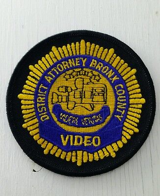 Bronx County, New York District Attorney Video Police Shoulder Patch