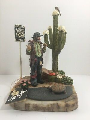 Emmett Kelly Jr Figurine Hand Signed Rare Ron Lee Route 66 Desert Collectible