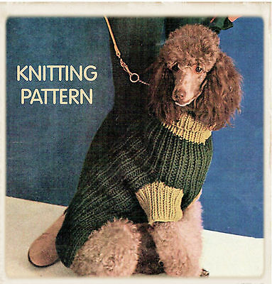 Vintage Knitting Pattern Copy -To Knit Dogs  Coats In 3 Sizes -Super Chunky Yarn
