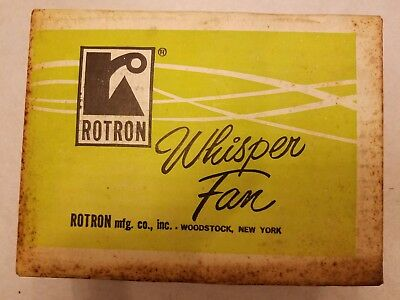 VINTAGE Rotron Whisper Fan RE-148 New!