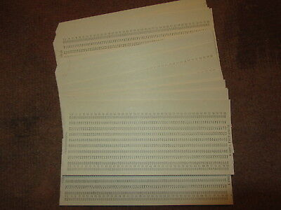 30 vintage USSR 1980s UNUSED PUNCHED CARDS. Texnoinform, Soviet Union