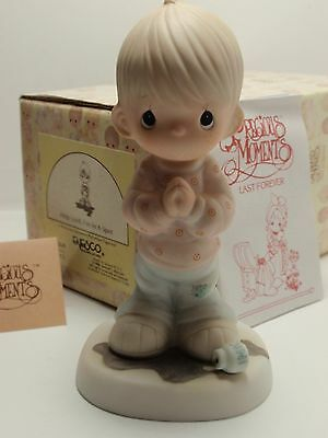 Help Lord I'm In A Spot precious moments boy ink olive branch 100269 w/box 1986