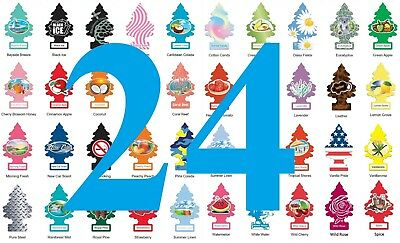 Pack of 24 ~ Little TreesCar Air Freshener, FREE SHIPPING CANADA & USA