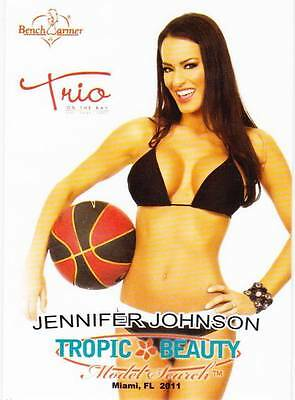 Jennifer Johnson 2011 Benchwarmer Tropic & Beauty Trio Promo Card #1
