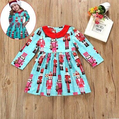 Lovely Toddler Kids Baby Girls Princess Party Dress Christmas Outfits Clothes US