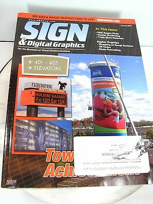 SIGN & DIGITAL GRAPHICS Magazine Lot of 8 2011 Editions Sign Business Reference