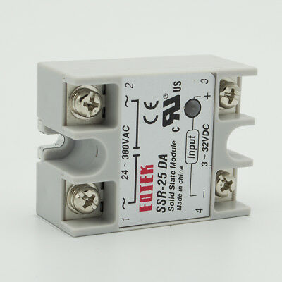 25A 3-32VDC Control AC DC-AC Single SSR25DA Phase Solid State Relay UK
