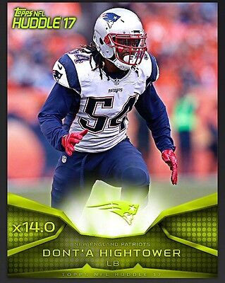 TOPPS NFL Huddle 2017: Super Bowl Neon x14.0 Boost Dont'A Hightower / New Englan