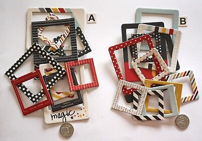 NO 501 Scrapbooking - 12 Card Photo / Picture Frames - 2 Options - Scrapbook
