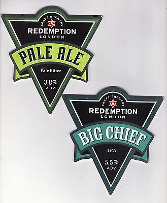 2 Redemption Craft Brewery (London) Pump Clip Fronts