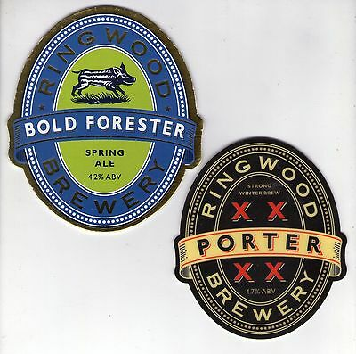 2 Ringwood Brewery Pump Clip Fronts (Lot 2)