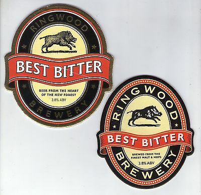 2 Ringwood Brewery Pump Clip Fronts (Lot 1)