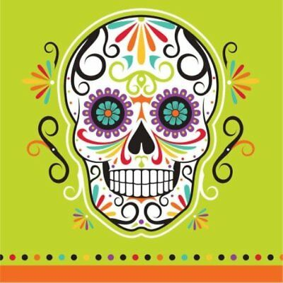 Day of the Dead Beverage Napkins 32 count - 2 ply.
