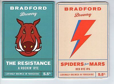2 Bradford Brewery Pump Clip Fronts (Lot 3)
