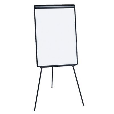 Flip Chart Double Sided Tripod Whiteboard Non Magnetic Height Adjust Free Del