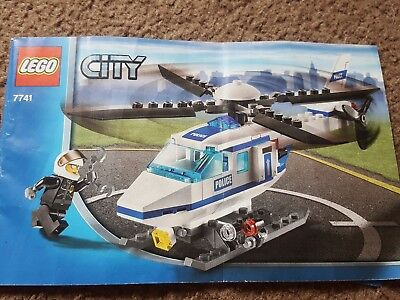 Lego City Town Police Helicopter 7741 Instruction Book Only 200