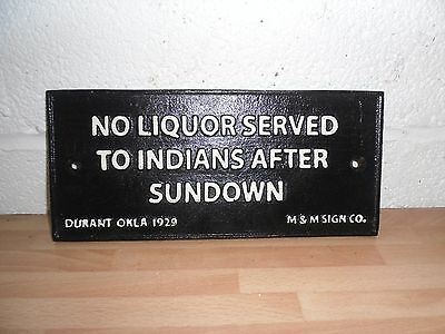 cast iron indian sign