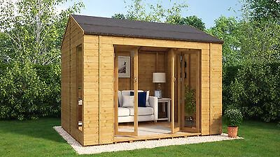 10 x 8 Wooden Garden Summerhouse Sunroom With French Doors Cannes