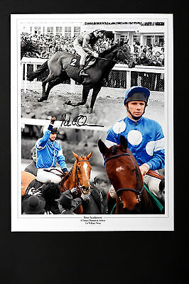 PETER SCUDAMORE HORSE RACING HAND SIGNED PHOTO AUTHENTIC GENUINE + COA - 16x12