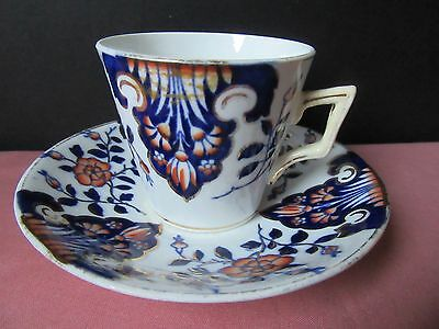 Gaudy Welsh cup and saucer