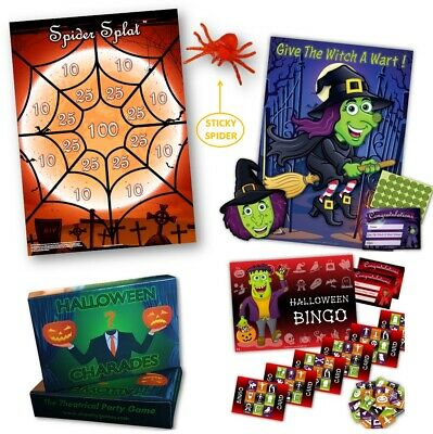 HALLOWEEN PARTY GAMES 4 PACK - FREE 1st Class P&P