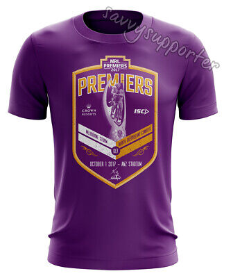 Melbourne Storm 2017 NRL Purple Premiers Tee Shirt Adults and Kids Sizes
