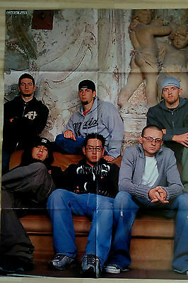 Giant LINKIN PARK CHESTER BENNINGTON / BLUE poster from Germany Europe RARE HUGE