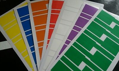 70x multi colour  labels ,network , electric cable markers tear proof, writable