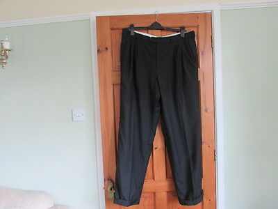 vintage Italian northern soul / 50s twin pleated turn up trousers  W 38 X L 31