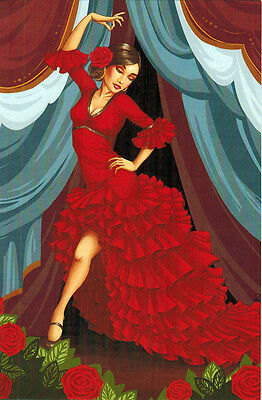 Spanish Dancer  Modern Russian postcard