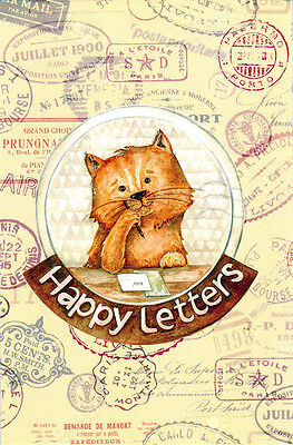 CAT WRITES LETTER, WANTS IT TO BE NICE... Modern Russian postcard
