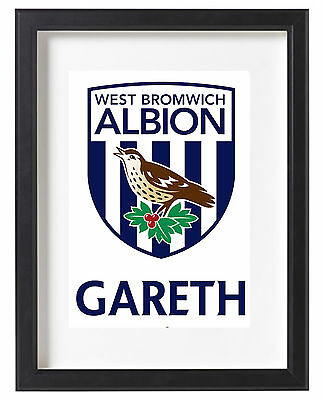 West Bromwich Albion Fc A4 Poster Name Personalised Hawthorns Premier League