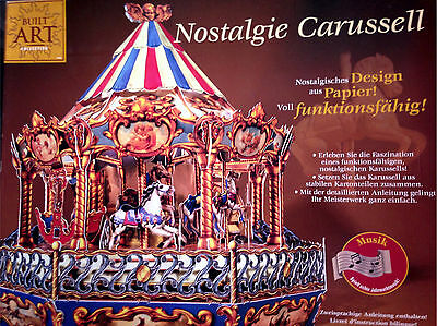Built Art Collection - Nostalgie Carussell aus Papier Hasbro 16+ - Neu