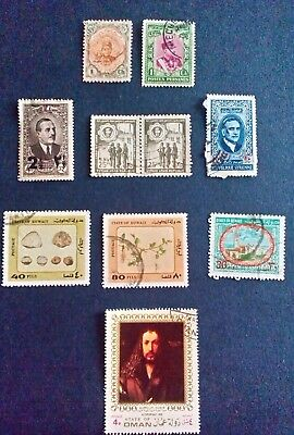 Middle East  stamps 1911, inc.Syria Kuwait Oman & other & Surcharge overprinted