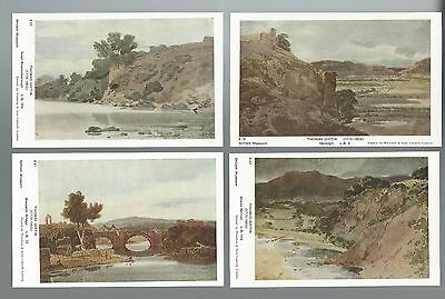 Postcards: 4 pictorial cards; Paintings by T Girtin  un-posted