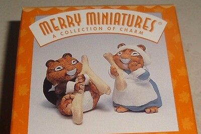 "Hallmark ""making A Wish"" Wishbone Thanksgiving Merry Miniature Mice Figurine Set"