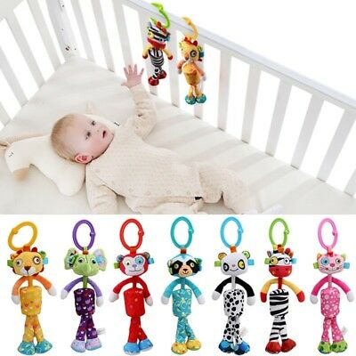 Cute Baby Infant Rattles Plush Animal Soft Bed Stroller Hanging Bell Play Toy GA
