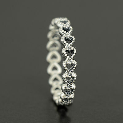 Pandora Openwork Linked Love Ring. Sterling Silver  S925 ALE