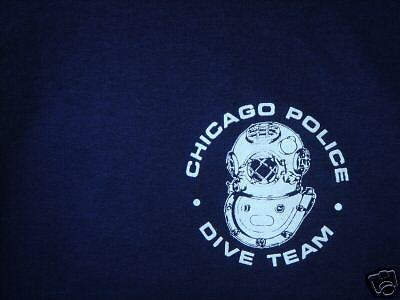 Chicago Police  Marine Unit  Dive T Shirt   Xl