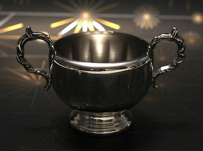 Silverplate Sugar Bowl with Handles Viking Electroplate on Copper