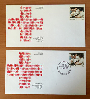 20c Anniversary Blood Donor Service- Pre Stamped Envelope - Mint & 1st Day Issue