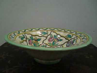Crown Ducal Charlotte Rhead bowl pattern 6016 Trellis shaped number 164
