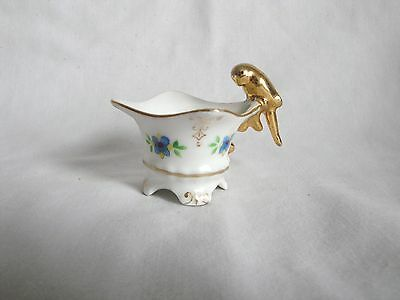 JAPAN MINI CUP Gold Bird Handle Hand Painted