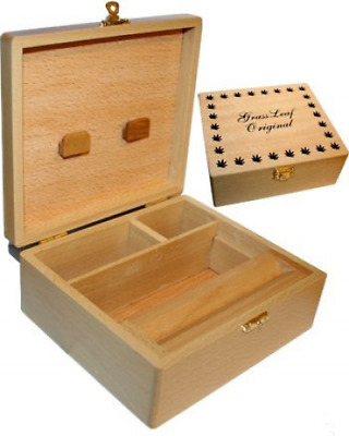 GRASSLEAF Grassleaf Wooden Rolling Box Roll Box Smoking Large