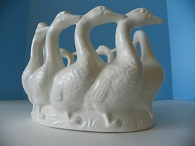 1979 Holland Mold 10 geese candle holder