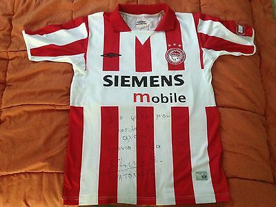 Olympiacos 2004 shirt signed (Anatolakis 32) rare & collectable