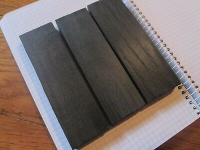 3pcs.lot Bog Oak morta, wood Woodturning/ knife scale block 1000-5800 Years Old